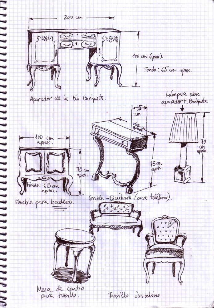 Dibujos muebles con medidas e anuncio web javier aoiz for Medidas de muebles pdf