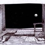 Primeros bocetos escenografía