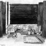 Boceto escenografía - grafito/papel