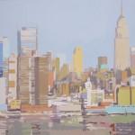 """""""Empire desde el Hudson I"""" - Acrílico/lienzo - 50x50 cm"""