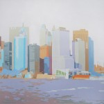 """Lower Manhattan IV"" - Acrílico/lienzo - 50x50 cm"