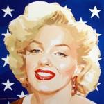 """Marilyn-stars"" - Acrílico/lienzo - 50x50 cm"