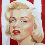 """""""Marilyn-stripes I"""" - Acrílico/lienzo - 50x50 cm"""