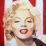 """""""Marilyn-stripes II"""" - Acrílico/lienzo - 50x50 cm"""