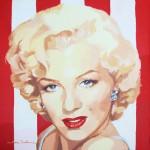 """""""Marilyn-stripes III"""" - Acrílico/lienzo - 50x50 cm"""