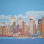 NEW YORK SKYLINE I, acrílico/lienzo, 73x116 cm