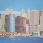 NEW YORK SKYLINE II, acrílico/lienzo, 73x116 cm