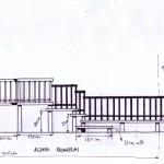 Alzado frontal pasarelas