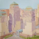 WORLD TRADE CENTER, acrílico/lienzo, 81x100 cm