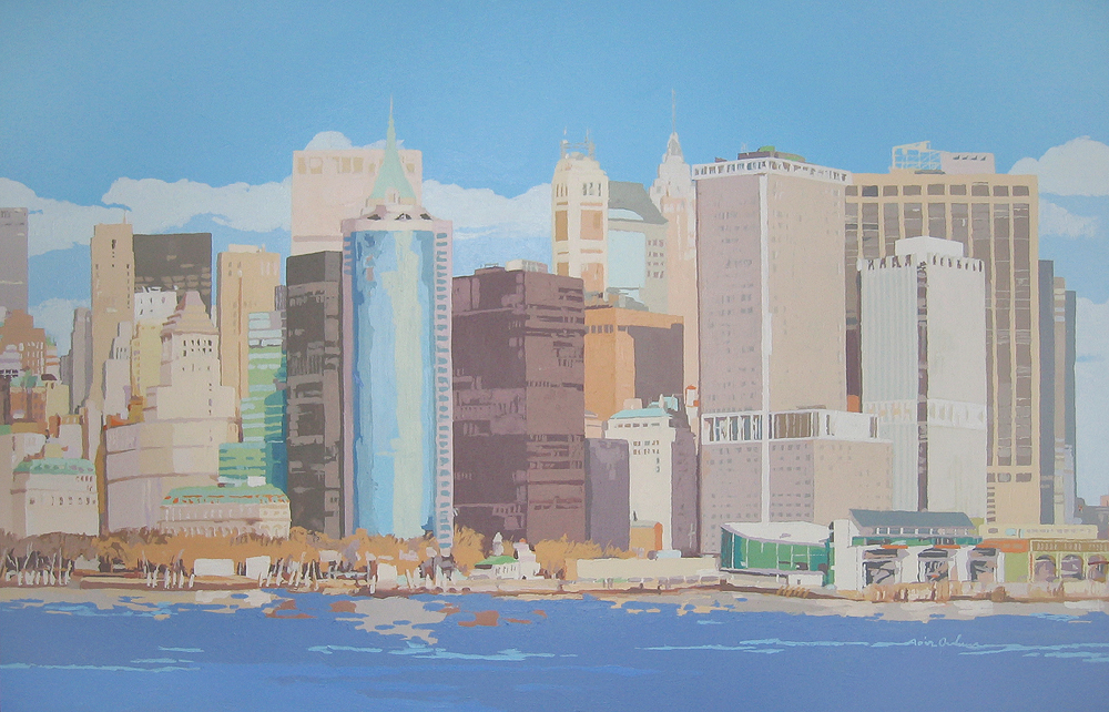 [13] NEW YORK SKYLINE II, acrílico/lienzo, 73x116 cm
