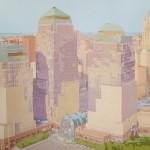 [14] WORLD TRADE CENTER, acrílico/lienzo, 81x100 cm