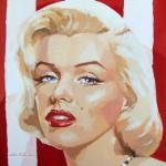 19. Marilyn-stripes I · Acrílico/lienzo · 50x50 cm