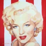 21. Marilyn-stripes III · Acrílico/lienzo · 50x50 cm
