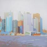 [13] LOWER MANHATTAN IV, acrílico/lienzo, 50x50 cm