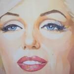 [14] MARILYN-EYES, acrílico/lienzo, 100x100 cm