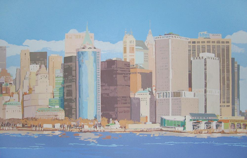 [08] NEW YORK SKYLINE II, acrílico/lienzo, 73x116 cm