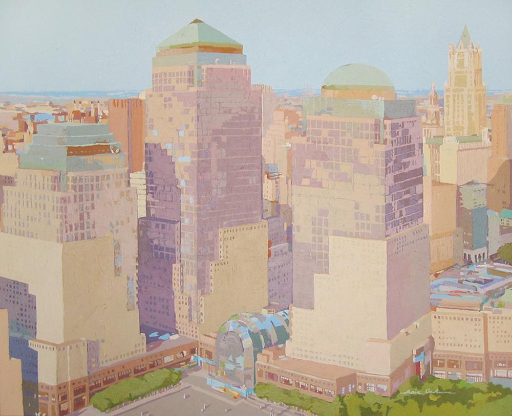 [09] WORLD TRADE CENTER, acrílico/lienzo, 81x100 cm