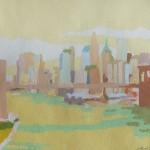 [15] NEW YORK NEW YORK, gouache/papel, 16x22 cm