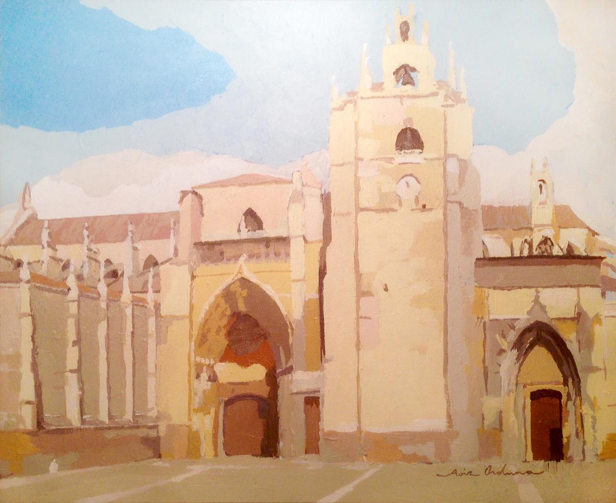 SAN ANTOLíN (Palencia), acrílico/lienzo, 38x46 cm