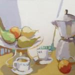 [02] NATURE MORTE AVEC DU CAFÉ, acrylique/toile, 16x22 cm