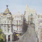 [01] MADRID GRAN VÍA, acrílico/lienzo, 97x130 cm, 2016