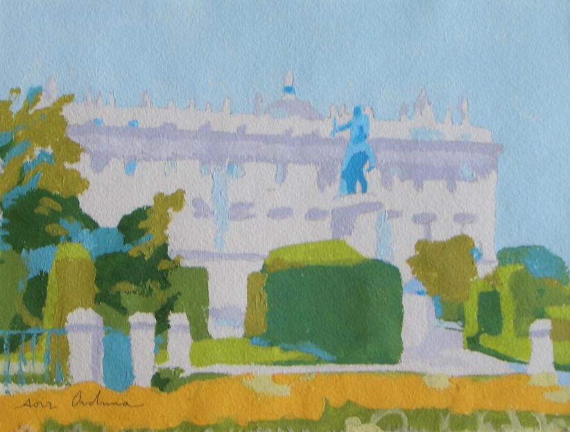 [23] PARTERRE AMARILLO, gouache/papel, 18x23 cm, 2012