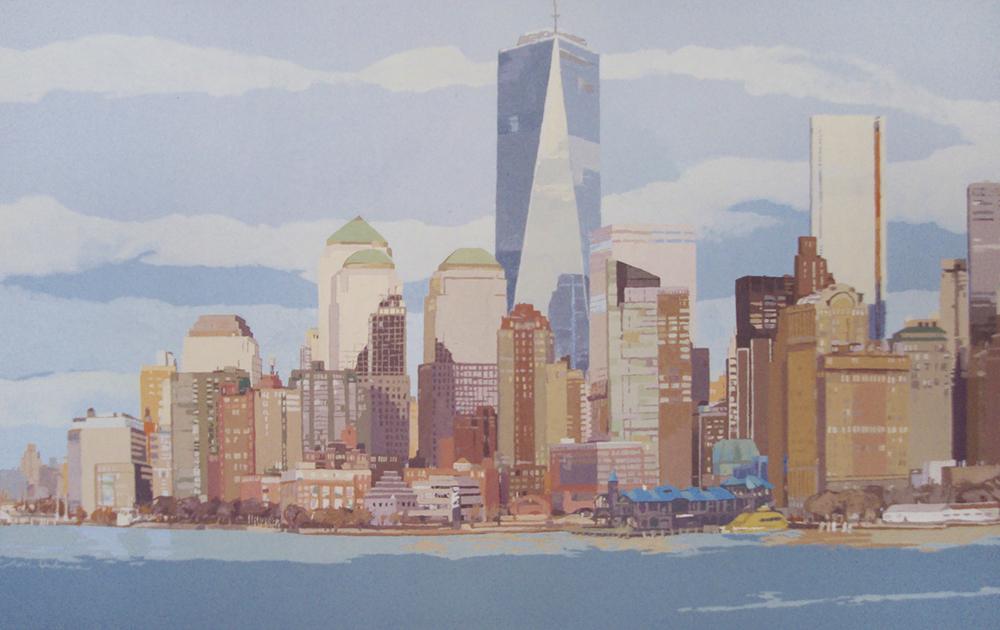 [08] NEW YORK SKYLINE III, acrílico/lienzo, 73x116 cm, 2015
