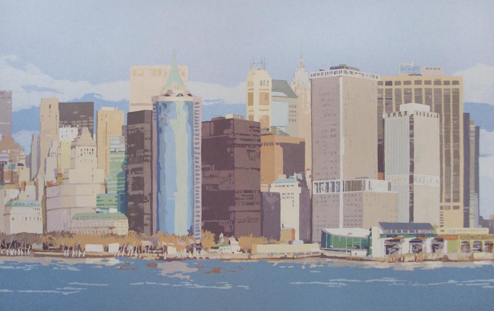 [09] NEW YORK SKYLINE IV, acrílico/lienzo, 73x116 cm, 2015