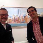 Con Alfonso, de Spain By Me, en la inauguración de DIECISéIS