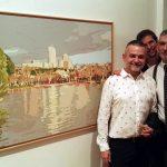 Inaug 039 con Alberto, Naxo y su cuadro