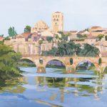 [02] Asomada al Duero II, acrílico/lienzo, 89x116 cm