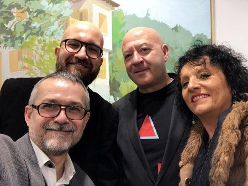 023. Con Ramón, Ángel y Carmen