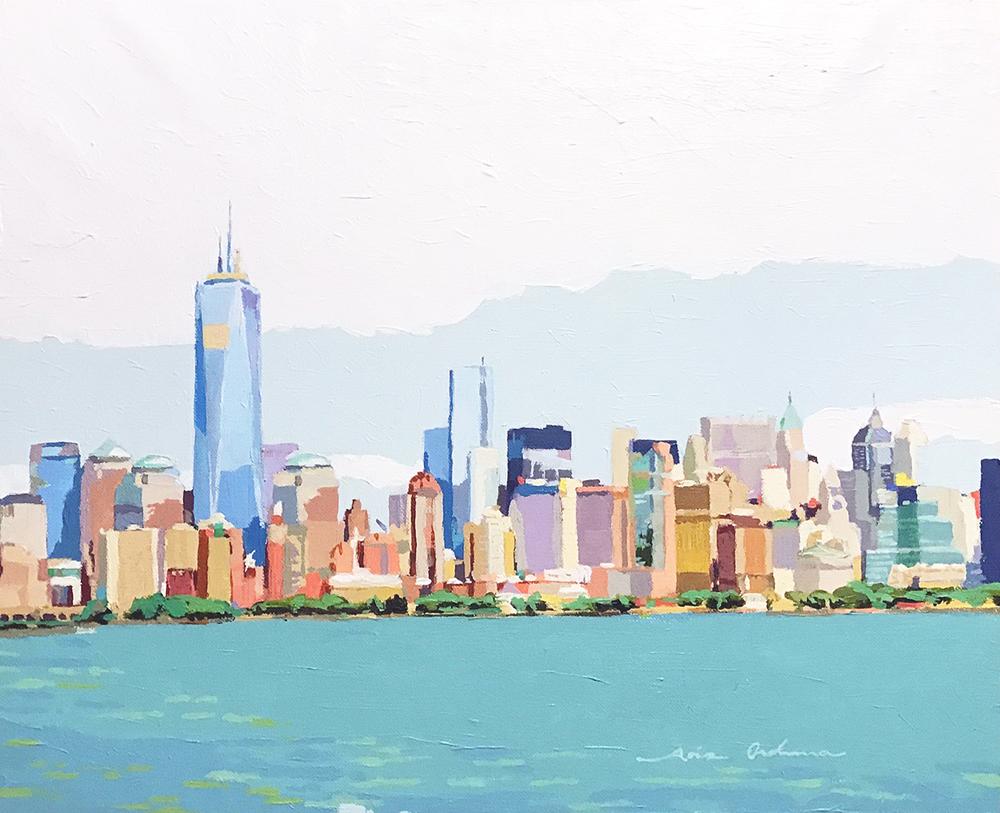 [08] New York skyline V, acrílico/lienzo, 38x46 cm