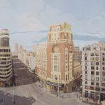 [22] Madrid Plaza de Callao, acrílico/lienzo, 130x162 cm