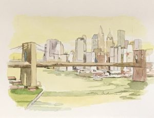 NEW YORK NEW YORK YELLOW, acuarela/papel, 13x18 cm