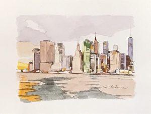 NEW YORK NEW YORK VIOLET, acuarela/papel, 13x18 cm